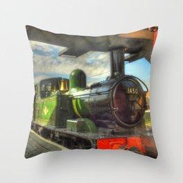 Steam Train 1450 Throw Pillow