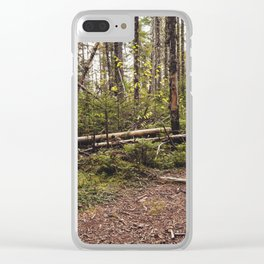 a path in the woods Clear iPhone Case