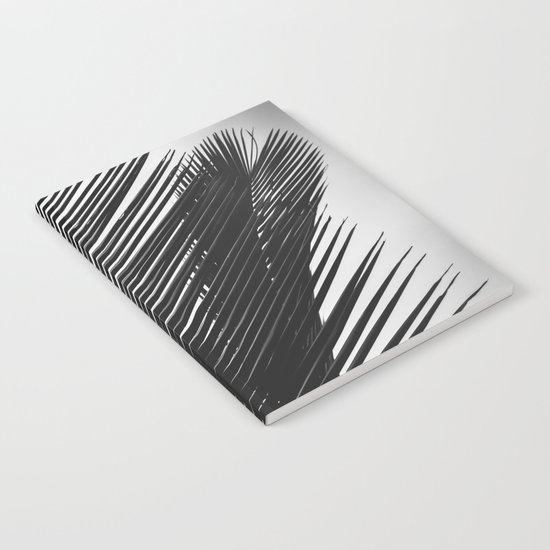 Tropical Palm Leaf Black and White by cascadia
