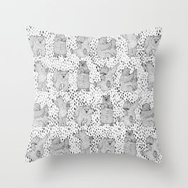 Lazy Bear Throw Pillow