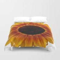 sunflower Duvet Covers featuring Sunflower5 by Regan's World