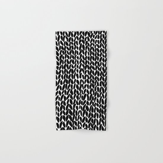 Hand Knitted Black S Hand & Bath Towel
