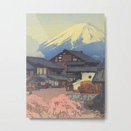 Hiroshi Yoshida, Artworks, Mt Fuji, Original Japanese Woodblock Print, Landscape Metal Print
