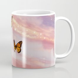 Butterfly Sunset Aesthetic Coffee Mug