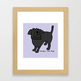 Fergus the Dog Framed Art Print