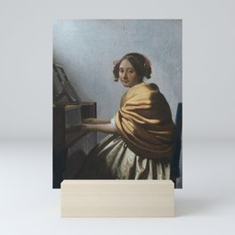 "Johannes Vermeer ""A Young Woman Seated at the Virginal"" Mini Art Print"