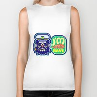 rave Biker Tanks featuring I'm Into Rave by chobopop