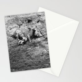 Mama and her Piglet Black & White Stationery Cards