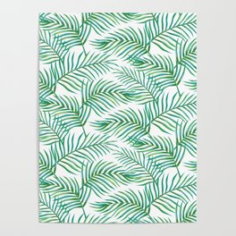 Palm Leaves_Bg White Poster