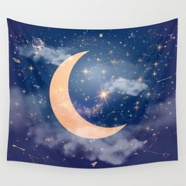 Nerdy Space Wall Tapestry