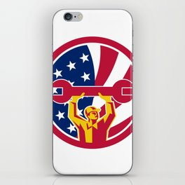 American Mechanic USA Jack Flag Icon iPhone Skin