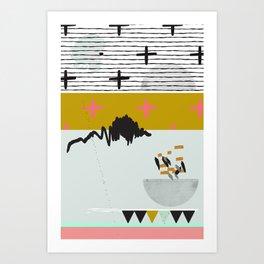 Space Theme Art Print