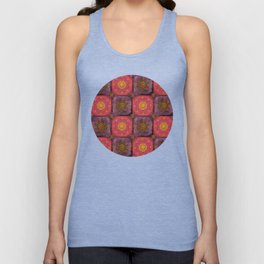 """Moroccan chess Strawberry & Purple Pattern"" Unisex Tank Top"