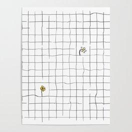 yellow flower pattern Poster