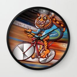 Olympic Cycling Tiger Wall Clock