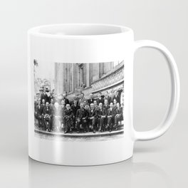 World-Renowned Physicists of 1927 at Solvay Conference Coffee Mug