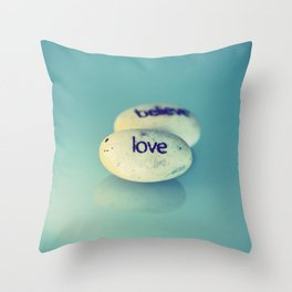 Love is Written in Stone Throw Pillow
