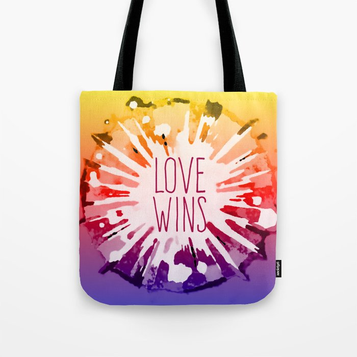 Love Explosion - Love Wins Pop-Art Tote Bag