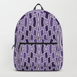 Fragmented Diamond Pattern in Violet Backpack