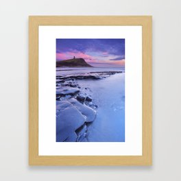Sunset at Kimmeridge Bay in southern England Framed Art Print