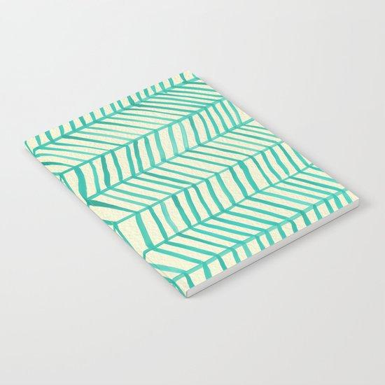 Mint Herringbone Notebook