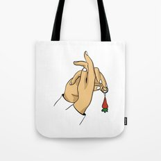 rabbit hand Tote Bag