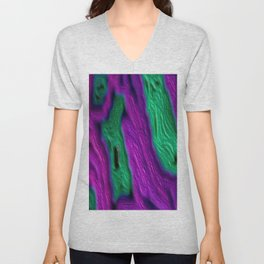 Purple on Green II Unisex V-Neck