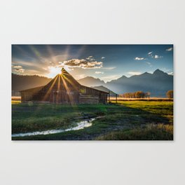 Sunset in the Tetons Canvas Print