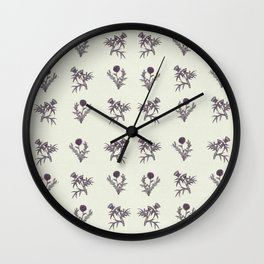 The thistle flowers Wall Clock