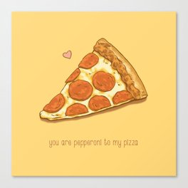 Pizza Valentine Canvas Print