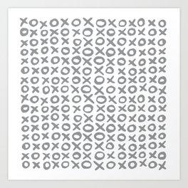 Xoxo Valentine's Day - Ultimate Gray Art Print