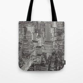 new york 2 black white Tote Bag