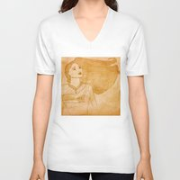 pocahontas V-neck T-shirts featuring Pocahontas by Sierra Christy Art