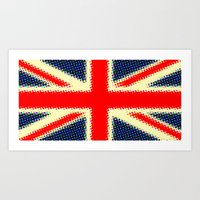 union jack Art Prints featuring Union Jack by deff