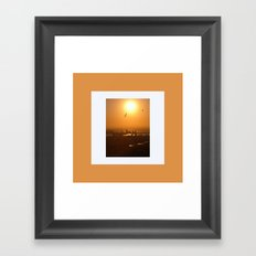 Flying over Cartagena Framed Art Print