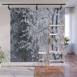 Snowy Tree Branches Winter Scene #decor #society6 #buyart Wall Mural