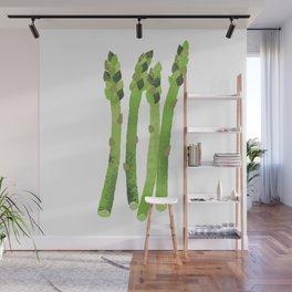 Asparagus Illustration Wall Mural