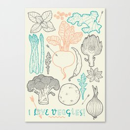 I love vegetables! Canvas Print