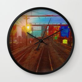 The Past Train 3 Wall Clock