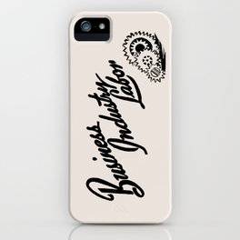 Business Industry Labor with Gears in Black iPhone Case