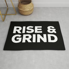 Rise & Grind Gym Quote Rug