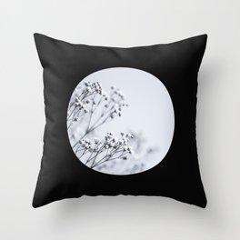 Silver Kiss III Throw Pillow