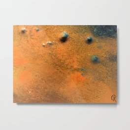 Eternal Well Close Up Photo Original Abstract Painting Metal Print