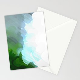 Green Dot Paint Stationery Cards