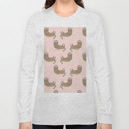 Otter Pink Pattern Long Sleeve T-shirt