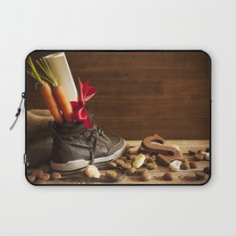 Shoe with carrots, for traditional Dutch holiday 'Sinterklaas' Laptop Sleeve