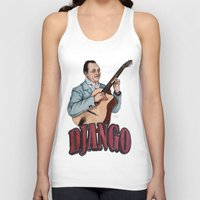 django Tank Tops featuring Django Reinhardt by Daniel Cash