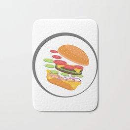 Awesome Burger falling down - I love Burger Bath Mat