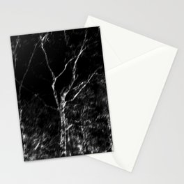 Black and white tree photography - Watercolor series #6 Stationery Cards