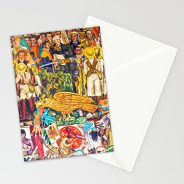 History of Mexico by Diego Rivera Stationery Cards